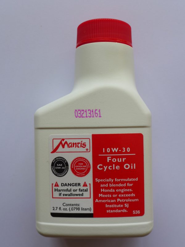 Quality oil for Mantis stroke tillers