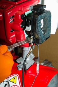 Mantis 4 stroke tiller service check