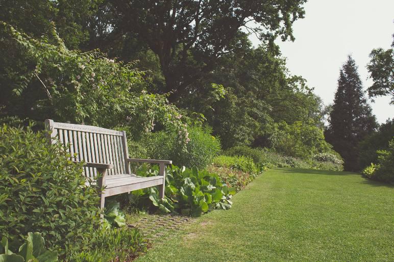 2 - bench in garden - public domain