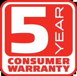 Mantis Tiller 5 year consumer warranty
