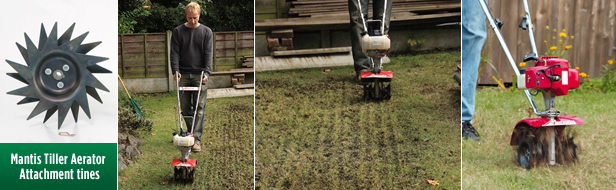 lawncare made easy aeration with mantis tiller