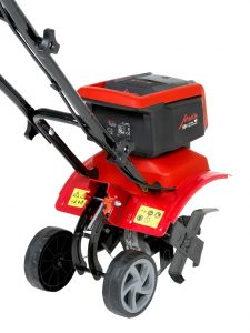 mantis battery cordless cultivator wheels makes gardening easier