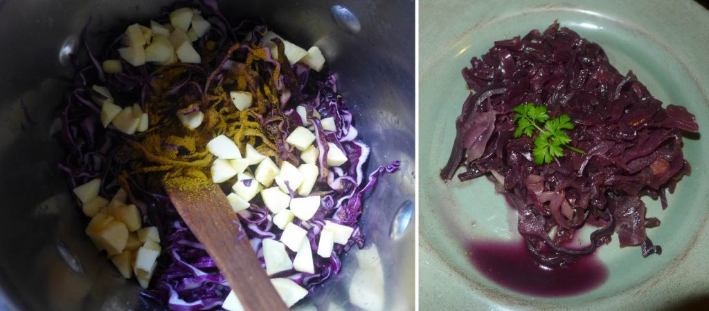 red cabbage and apple recipe