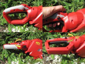 cordless hedge trimmer swivel handle