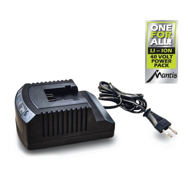 mantis battery charger for cordless 40v garden tools