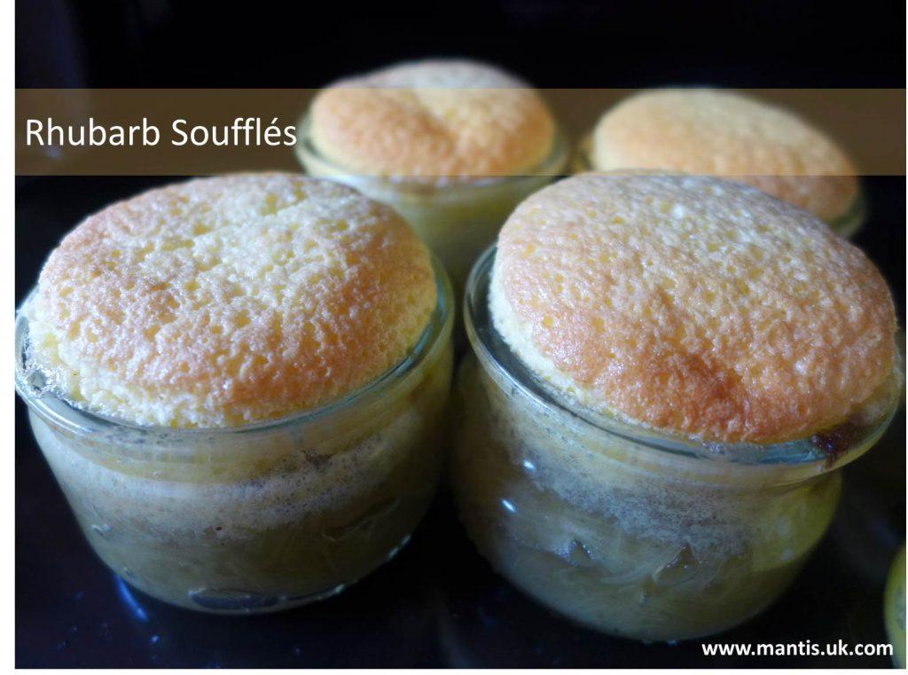 Rhubarb Soufflés
