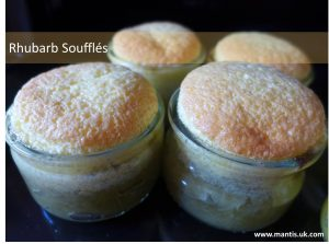 spring recipe rhubarb soufflés