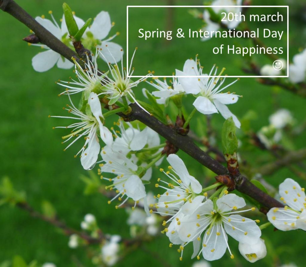20th MARCH: SPRING AND INTERNATIONAL DAY OF HAPPINESS