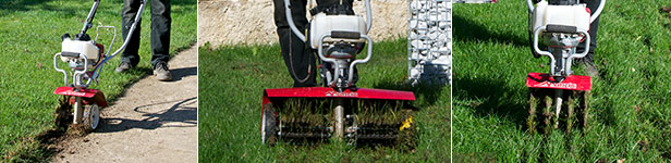 Mantis Tiller Aerator, Dethatcher and Border Edger Attachments