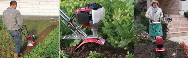Garden upkeep with a Mantis Tiller